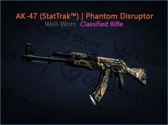 AK-47 (StatTrak™) | Phantom Disruptor (Well-Worn)