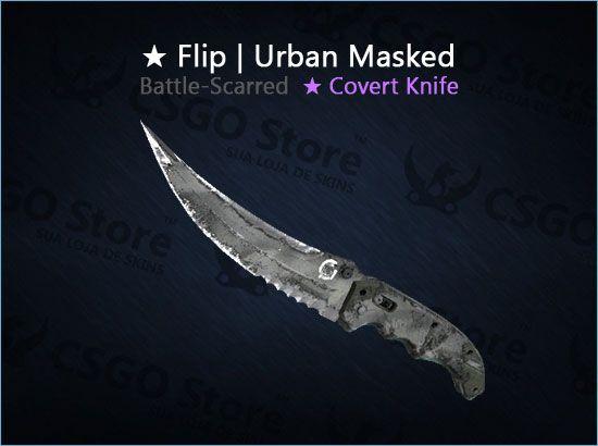 ★ Flip Knife | Urban Masked (Battle-Scarred)