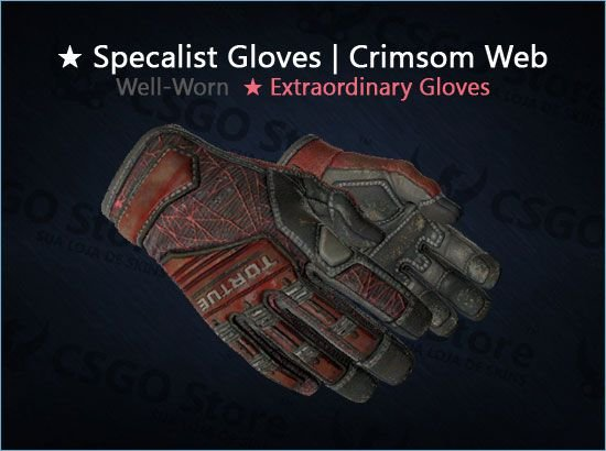★ Specialist Gloves | Crimson Web (Well-Worn)