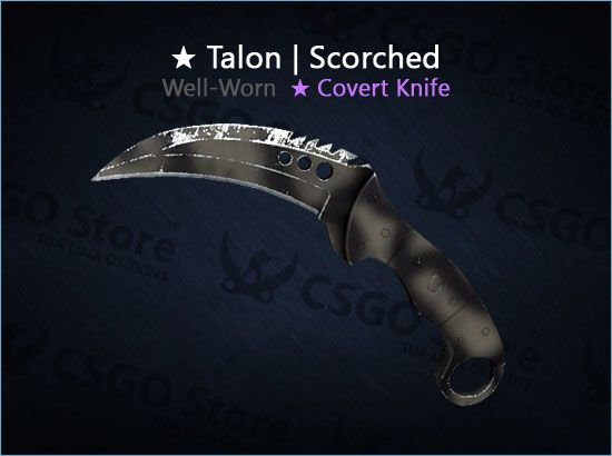 ★ Talon Knife | Scorched (Well-Worn)