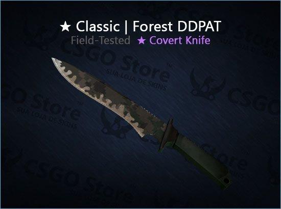 ★ Classic Knife | Forest DDPAT (Field-Tested)