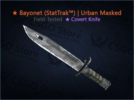 ★ Bayonet (StatTrak™) | Urban Masked (Field-Tested)