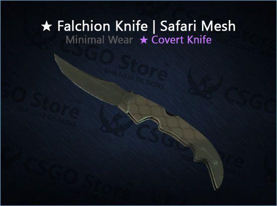 ★ Falchion Knife | Safari Mesh (Minimal Wear)