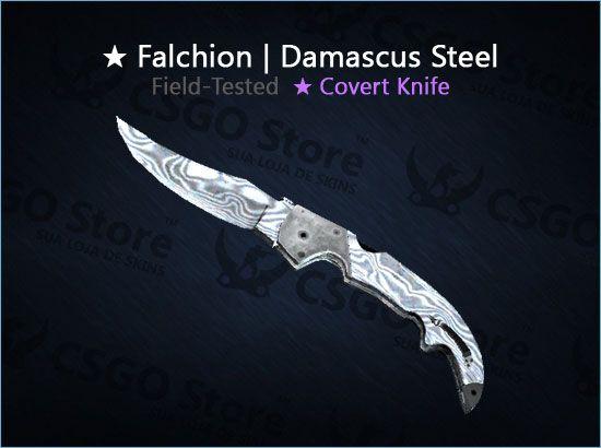 ★ Falchion Knife | Damascus Steel (Field-Tested)