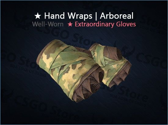 ★ Hand Wraps | Arboreal (Well-Worn)
