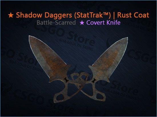 ★ Shadow Daggers (StatTrak™) | Rust Coat (Battle-Scarred)