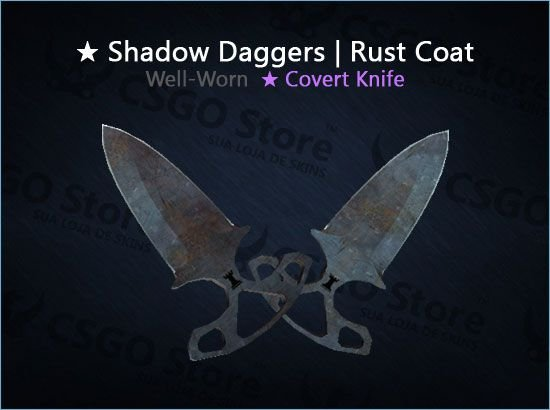 ★ Shadow Daggers | Rust Coat (Well-Worn)