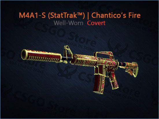 M4A1-S (StatTrak™) | Chantico's Fire (Well-Worn)