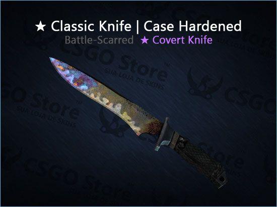 ★ Classic Knife | Case Hardened (Battle-Scarred)