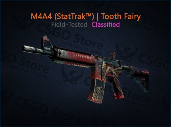 M4A4 (StatTrak™) | Tooth Fairy (Field-Tested)