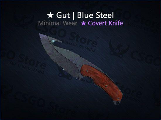 ★ Gut Knife | Blue Steel (Minimal Wear)