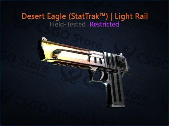Desert Eagle (StatTrak™) | Light Rail (Field-Tested)