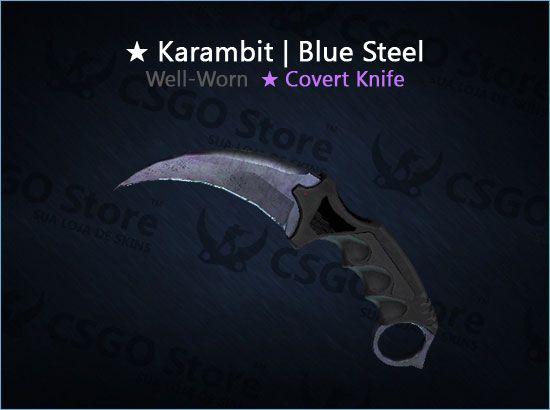 ★ Karambit | Blue Steel (Well-Worn)
