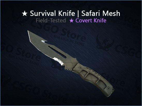 ★ Survival Knife | Safari Mesh (Field-Tested)