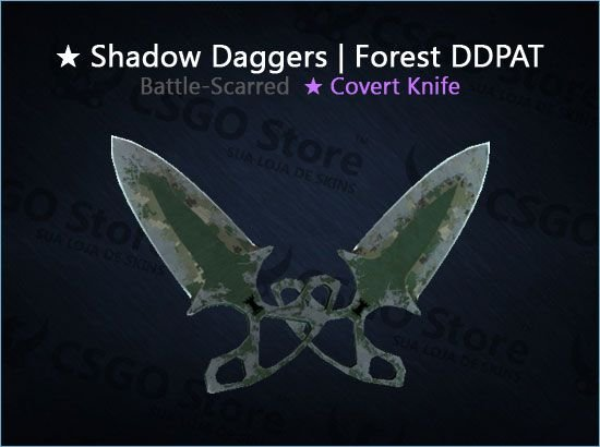 ★ Shadow Daggers   Forest DDPAT (Battle-Scarred)