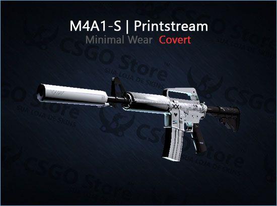 M4A1-S | Printstream (Minimal Wear)