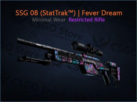 SSG 08 (StatTrak™) | Fever Dream (Minimal Wear)