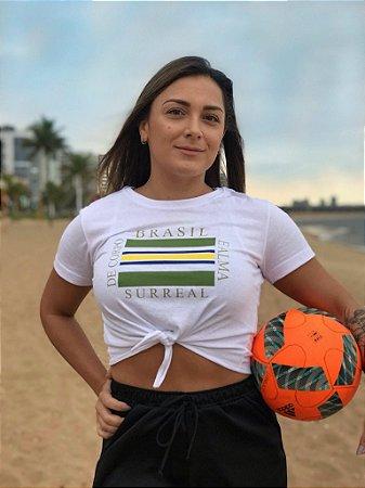 t-shirt nó brasil corpo e alma branca