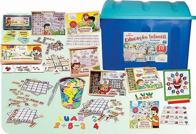 Baú da Educação Infantil com 10 jogos