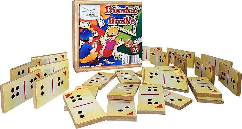 Dominó adaptado Braille