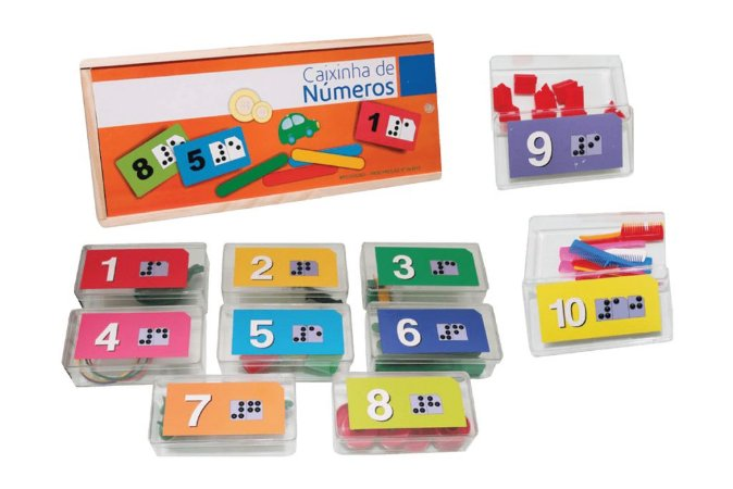 Caixinha de Números e Quantidades em Braille