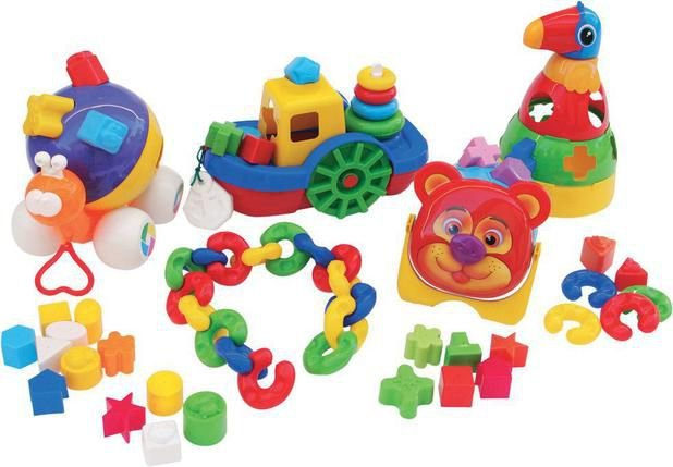 Kit Baby Didáticos com 66 peças em plástico