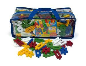 Conjunto Ligue Mania com 400 peças em plástico