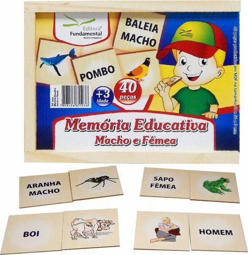 Memória Educativa Macho e Fêmea e suas escritas - 40 peças