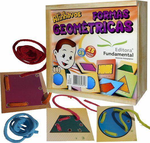 Alinhavos Formas Geométricas – Cx. c/ 25 Peças + 10 Cadarços