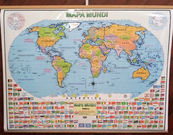 Mapa Mundi em Braille - 90x120cm