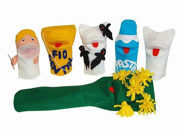 Conjunto Fantoches – Conjunto Dental 6 unidades + 3 dedoches
