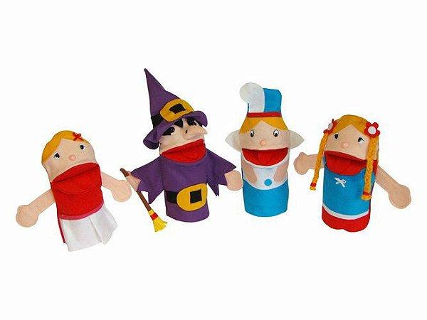 Conjunto de Fantoches - Rapunzel c/ 4 peças