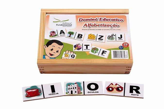 Dominó Educativo de Alfabetização c/ 28 peças