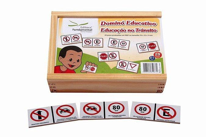 Dominó Educativo Educação no Trânsito c/ 28 peças