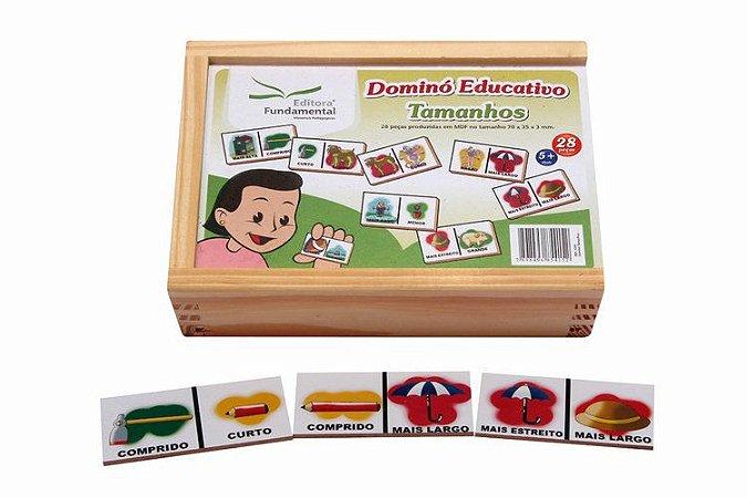 Dominó Educativo  de Tamanho - 28 peças