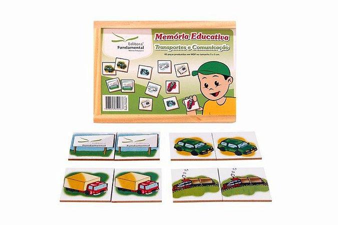 Memória Educativa Meios de Transporte - 40 peças