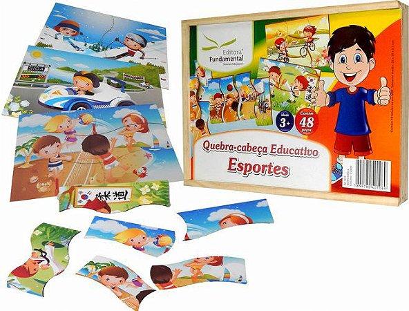 Conjunto de Quebra-Cabeças Educativo Esportes - 10 placas