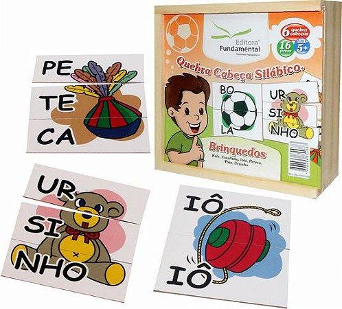 Quebra-Cabeça Silábico Brinquedos - 16 peças