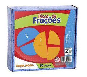 Disco de Frações em madeira - 96 peças