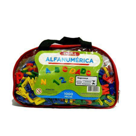 Conjunto Alfanumérico em plástico - 1000 peças