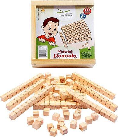 Material Dourado Individual - 111 peças em madeira