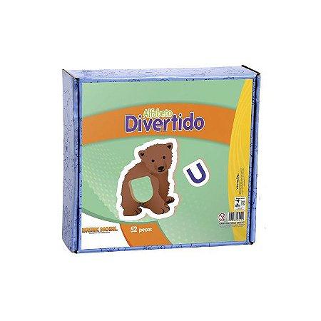 Alfabeto Divertido em Madeira - 52 peças