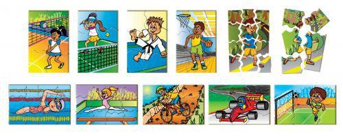 Quebra-Cabeça de Atividades Esportivas em MDF