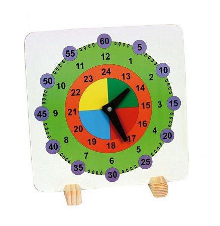 Relógio Didático em MDF