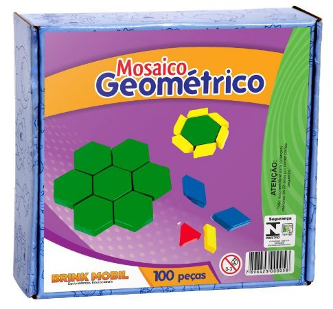 Mosaico Geométrico em plástico
