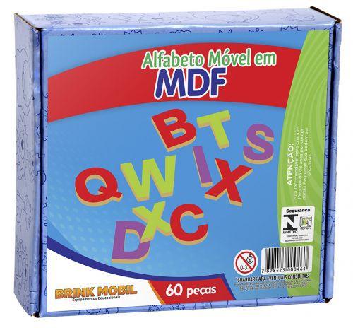 Alfabeto Móvel em MDF - 60 peças