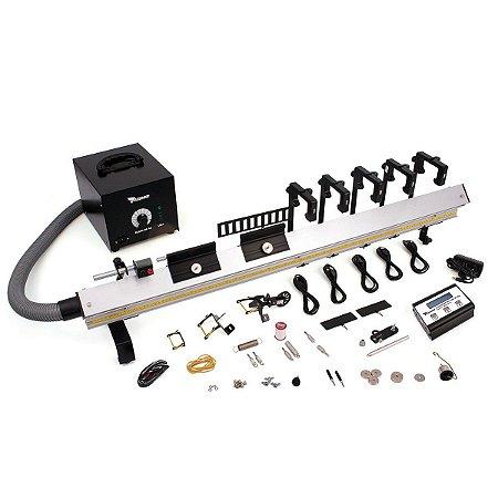 Kit de Física - Trilho de Ar Linear 1200mm Cronômetro Digital Timer e 5 sensores