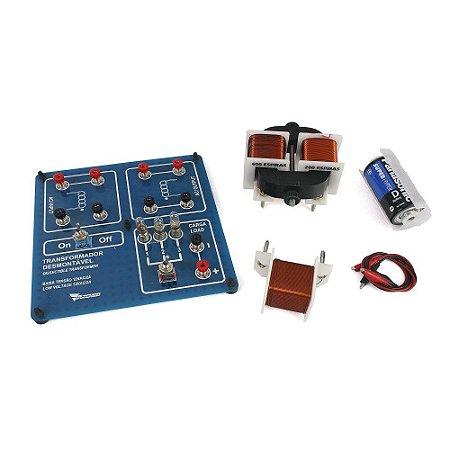 Kit de Física - Transformador Desmontável Didático Pequeno