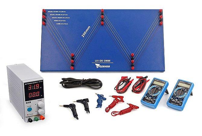 Kit de Física - Conjunto para estudos da Lei de OHM