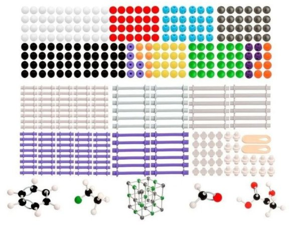 Modelo Molecular Avançado Orgânico e Inorgânico c/ 810 peças